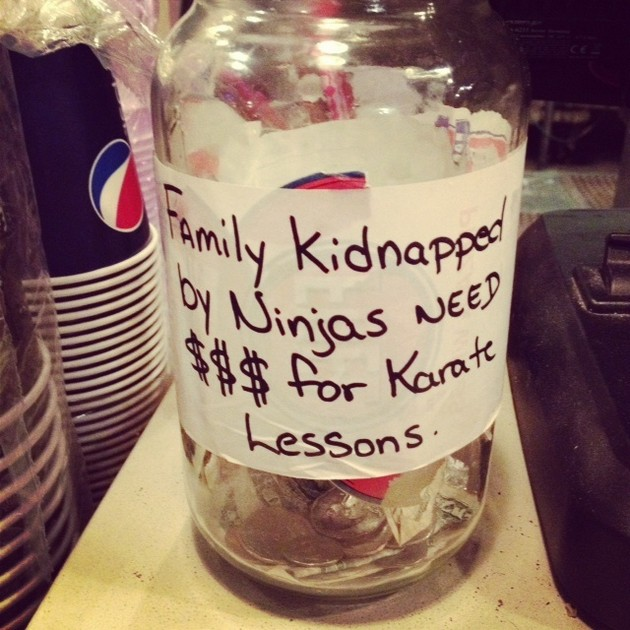 This Silly Tip Jar-15 Funniest Tip Jars You'll Ever See