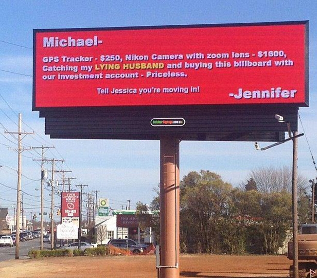 Another Billboard Story, This Time it is Colored-15 Times Cheaters Got Owned By Their Partners