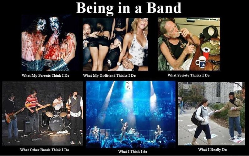 Being in a Band-15 Hilarious Differences Between What Your Girlfriend Thinks And Reality