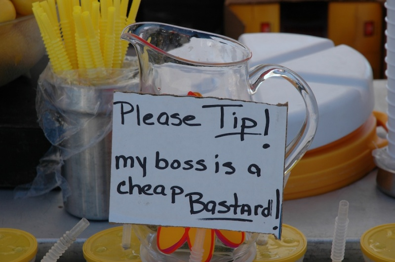 This Brave Employee-15 Funniest Tip Jars You'll Ever See