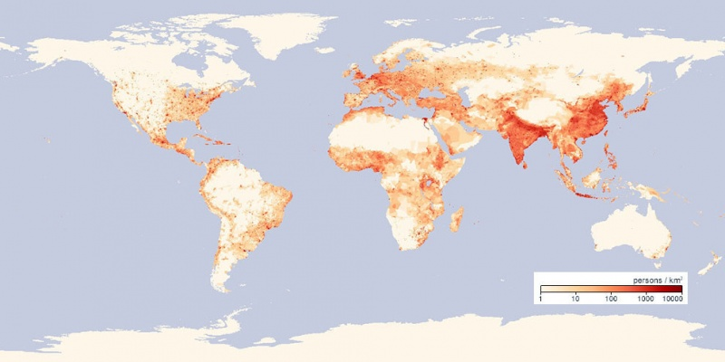 Map that Shows Population Density-15 Maps That Will Change The Way You See The World
