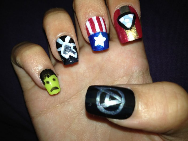 The Avengers-15 Amazing Nail Arts That You Must Try Once In Your Life