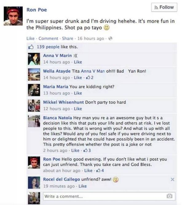 If It Was in US, He Would Have Been in Jail-15 Hilarious Facebook Drunk Posts