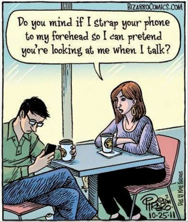 Most of us Know How Annoying This Can be-15 Images That Show How Internet And Social Media Ruins Relationships