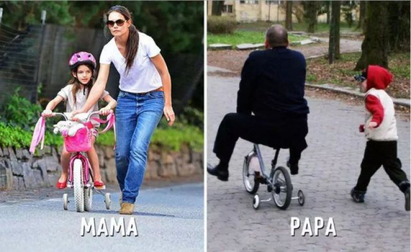 Teaching Time - Mom vs. Dad-15 Hilarious Differences Between Mom And Dad