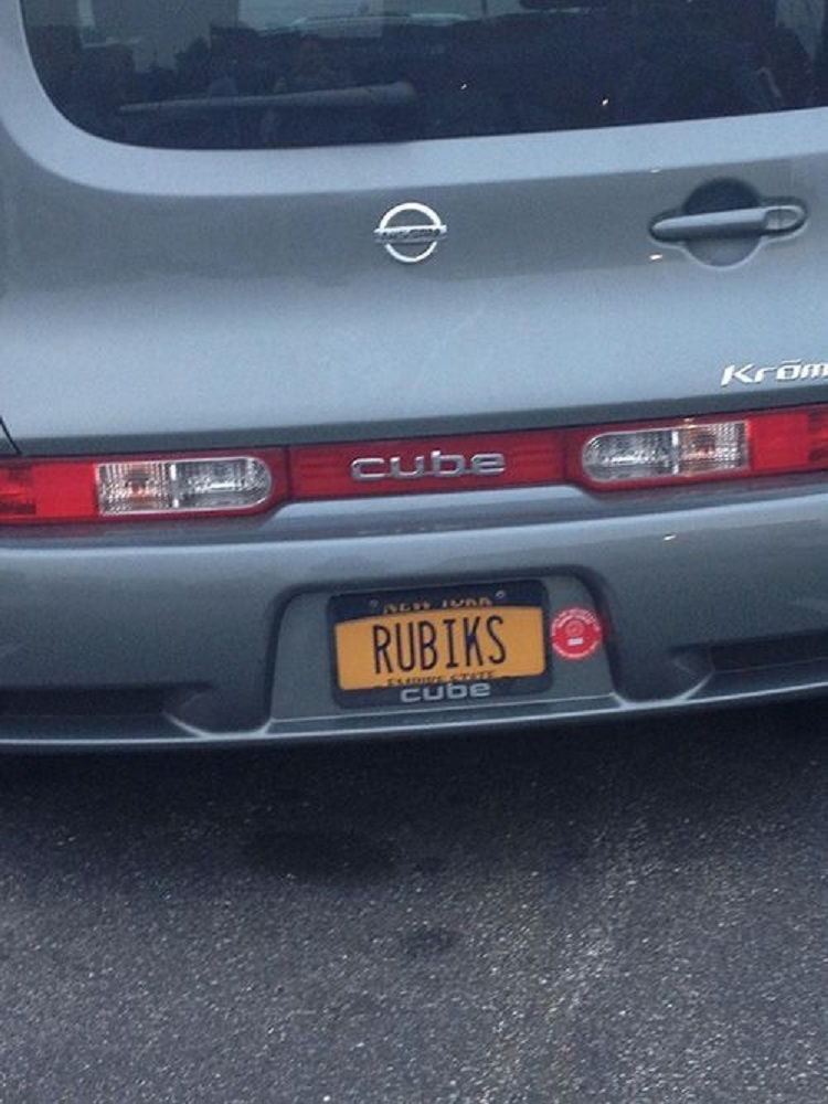 That's Not A Car, That's A Rubik's Cube-15 License Number Plates With Secret Meaning