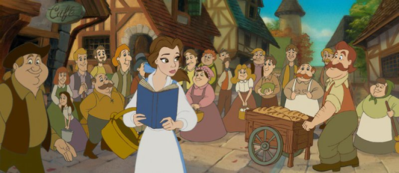 Princess Belle and the Blue Color-15 Interesting Things About Disney Princesses You Never Noticed