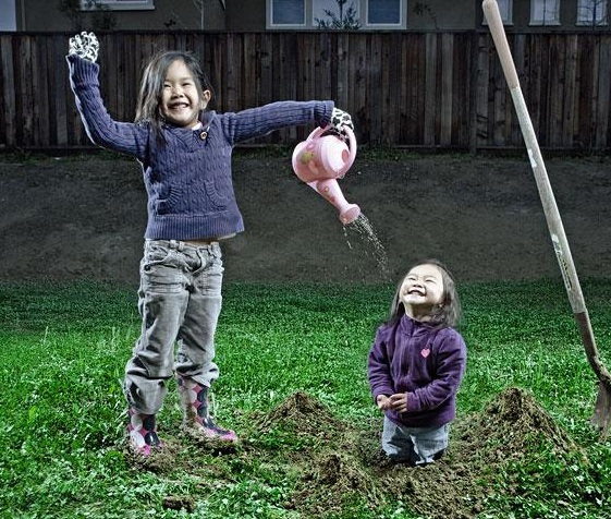 Keep watering me, I am a tree...-Crazy Photos Of Daughters By Their Dad