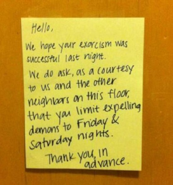 Well Said!-15 Aggressive Notes Left For Stupid Neighbors