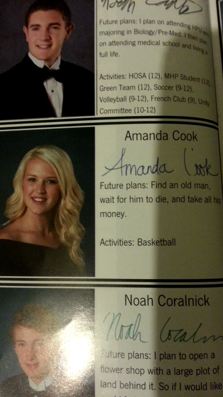 Now Those are Some Serious Future Plans -15 Hilarious Yearbook Quotes Ever