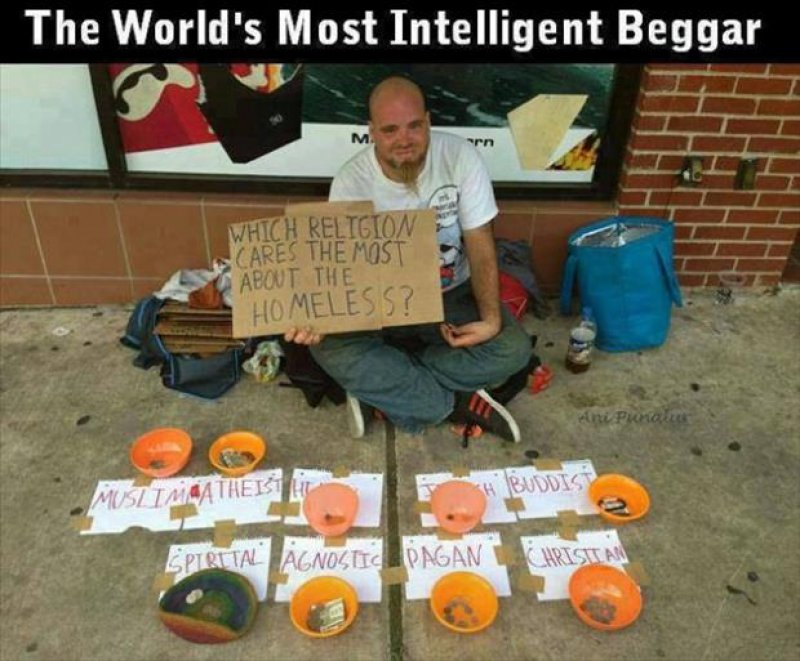 The Intelligent Homeless Man-15 Images That Make You Say 'Well Played Sir'.