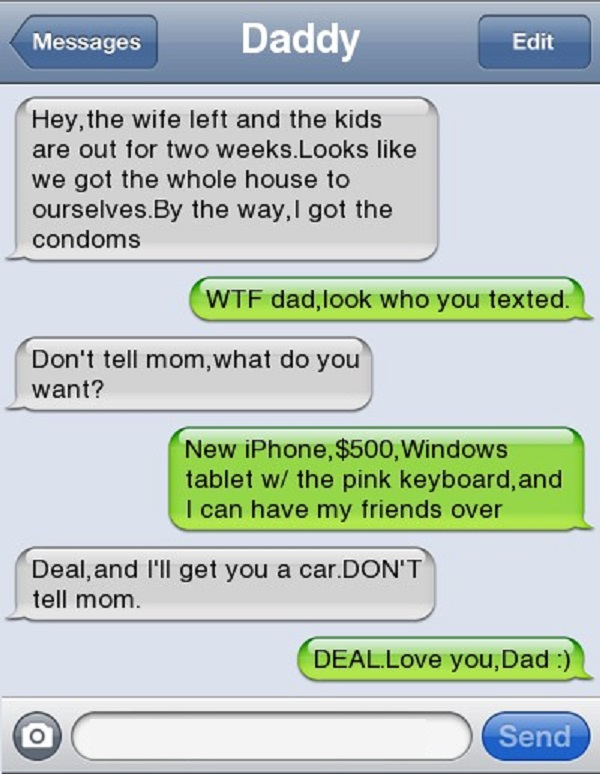 Another Dad Who Texted to Wrong Person at Wrong Time-15 Hilarious Texts From Dads