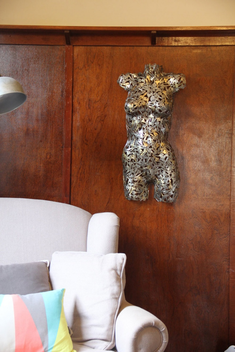 Female Torso Made from Scrap-15 Beautiful Items That Are Carved Out Of Scrap