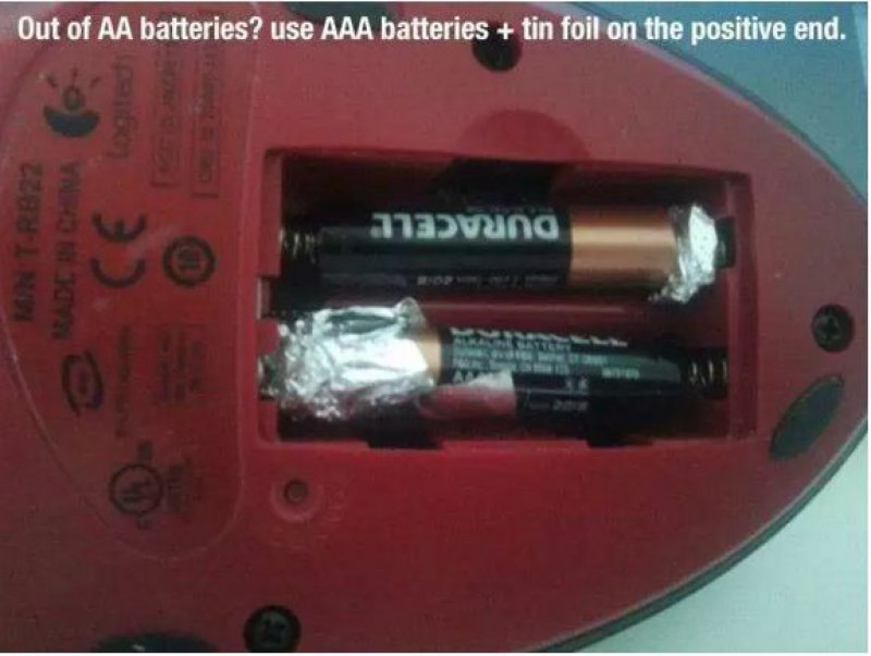 Using AAA Batteries When You Run out of AAs-15 Silly Things You Probably Didn't Know Until Now