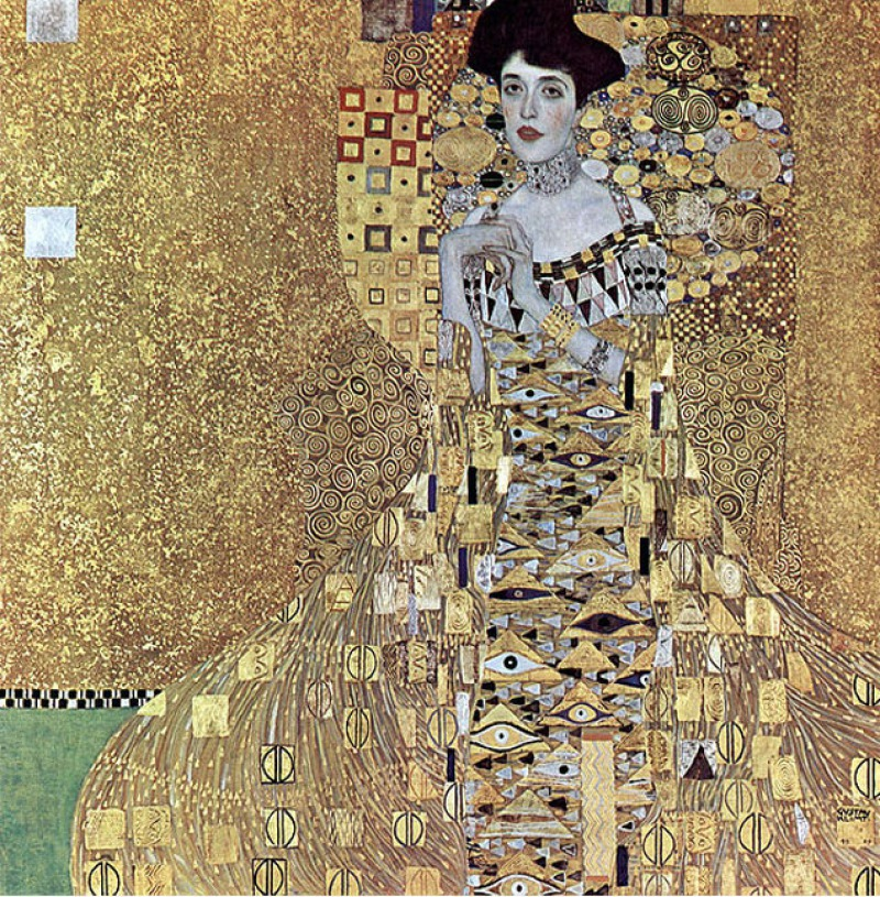 Portrait of Adele Bloch-Bauer I, 1907 by Gustav Klimt (2.8 Million)-15 Ridiculous Paintings Sold For Millions Of Dollars