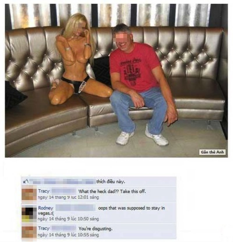 Dad Posted Inappropriate Las Vegas Trip Photos on Facebook-15 Most Embarrassing Dads On Facebook Ever