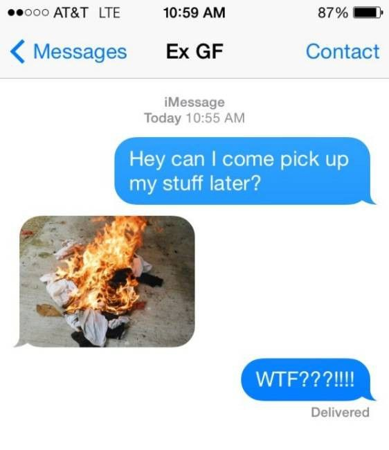 Yes, You can Come and collect the Ashes-15 Hilarious Texts From Exes That Will Make You Lol