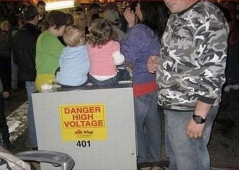 DANGER HIGH VOLTAGE - but who cares anyway? -15 Images That Show Parenting Isn't Meant For Everyone