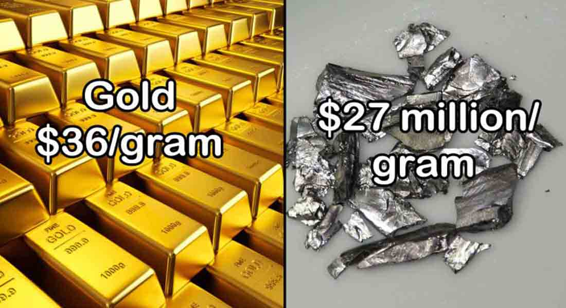 15 Most Rare and Expensive Materials In The World