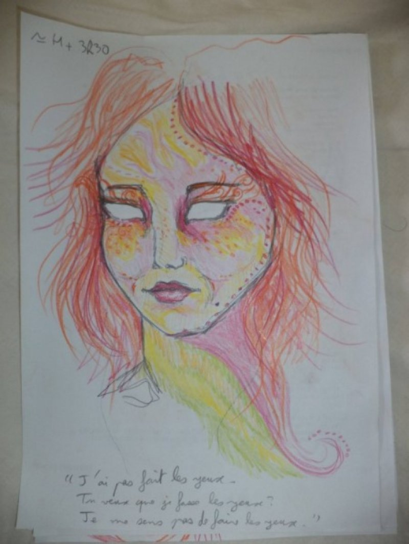 After 3 Hours and 30 Minutes-A Woman Draws Her Self Portraits During Her First Acid Trip