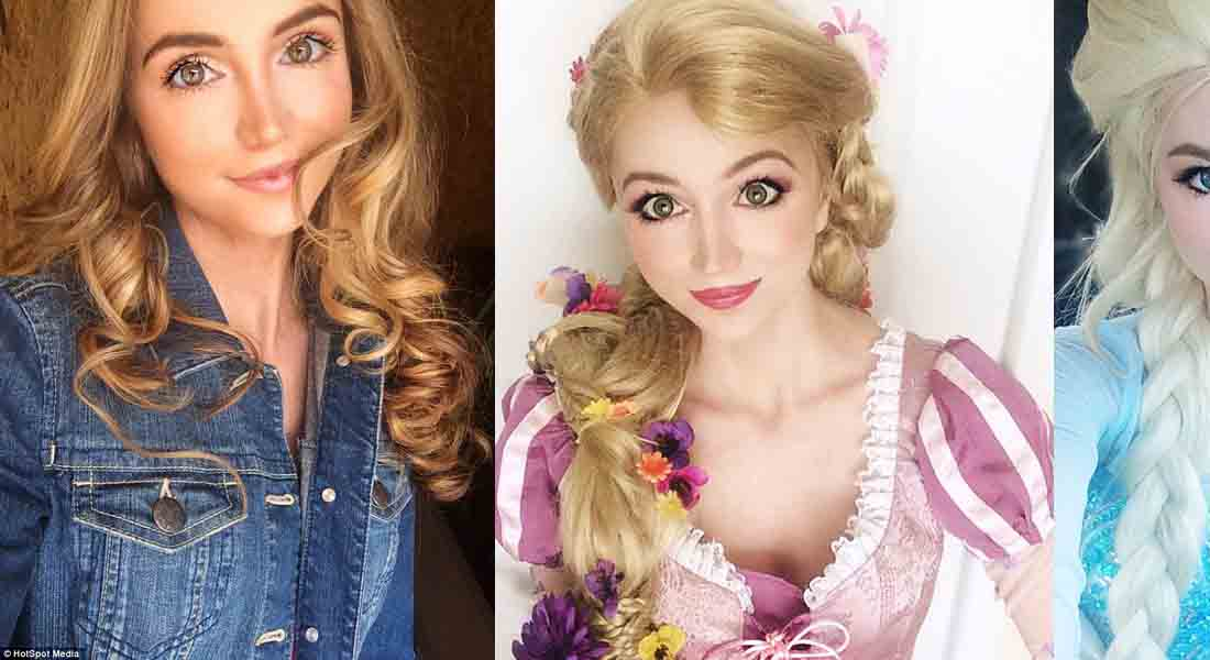 Girl Who Spent $14,000 To Look Like Disney Princesses
