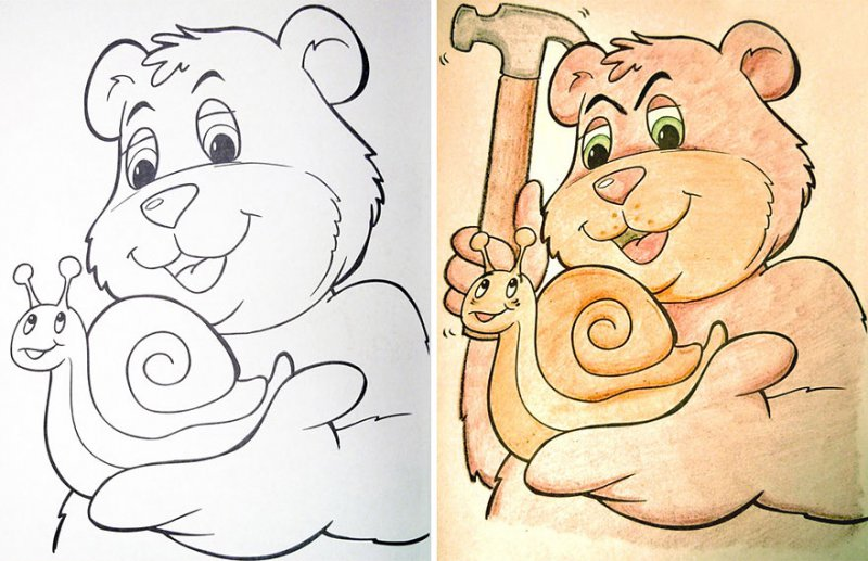 What a Cute Little Snail-15 Drawings That Show Dads Should Stay Away From Children's Coloring Books