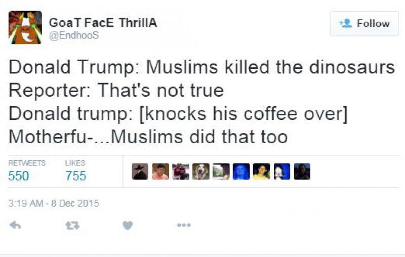 Recent Comments Against Muslims-15 Hilarious Tweets About Donald Trump Sure To Make You Laugh