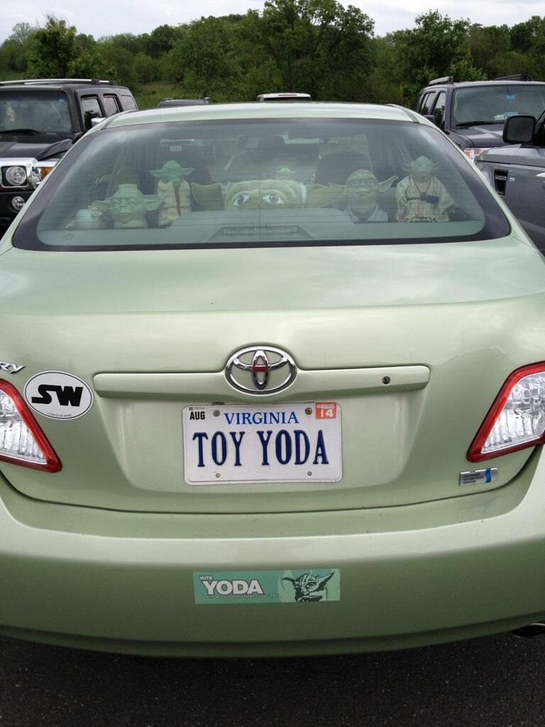Master Toy Yoda-15 License Number Plates With Secret Meaning