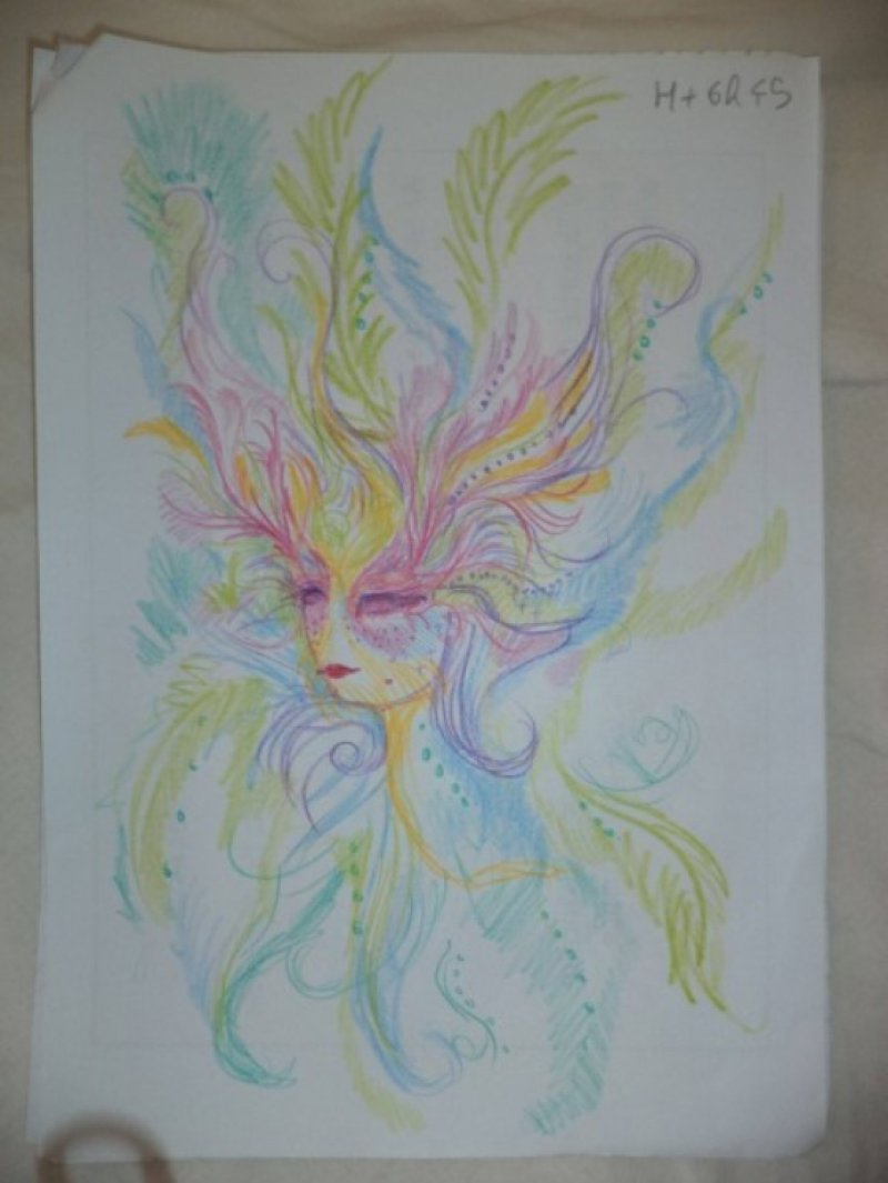 After 6 Hours and 45 Minutes-A Woman Draws Her Self Portraits During Her First Acid Trip