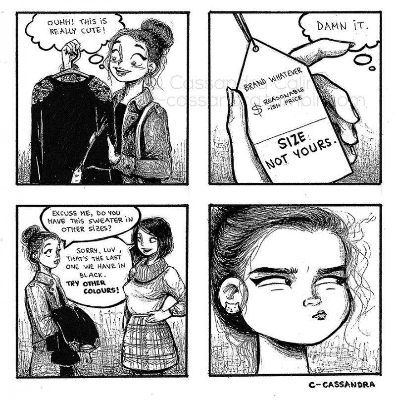 Size And Price Don't Go Hand in Hand-15 Comics That Perfectly Illustrate Everyday Struggles Of A Woman