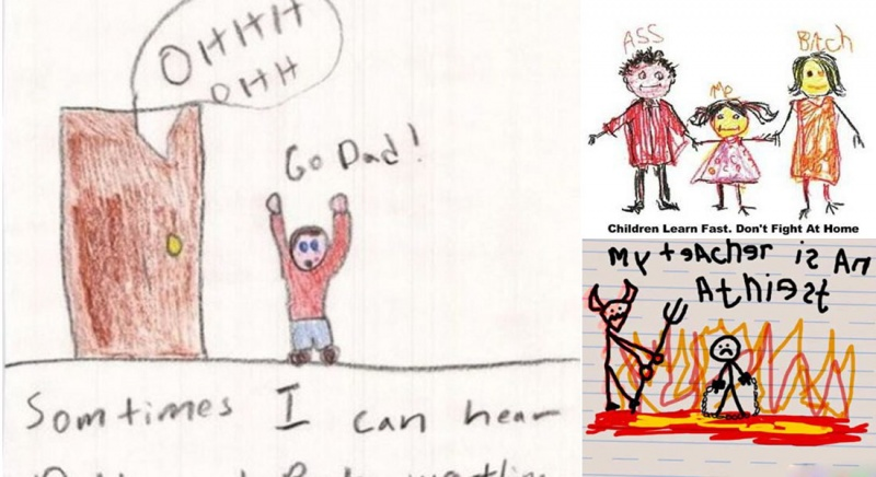 12 Most Disturbing drawings by kids