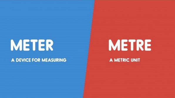 Meter vs. Metre-15 Words That Sound Similar But Have Different Meaning