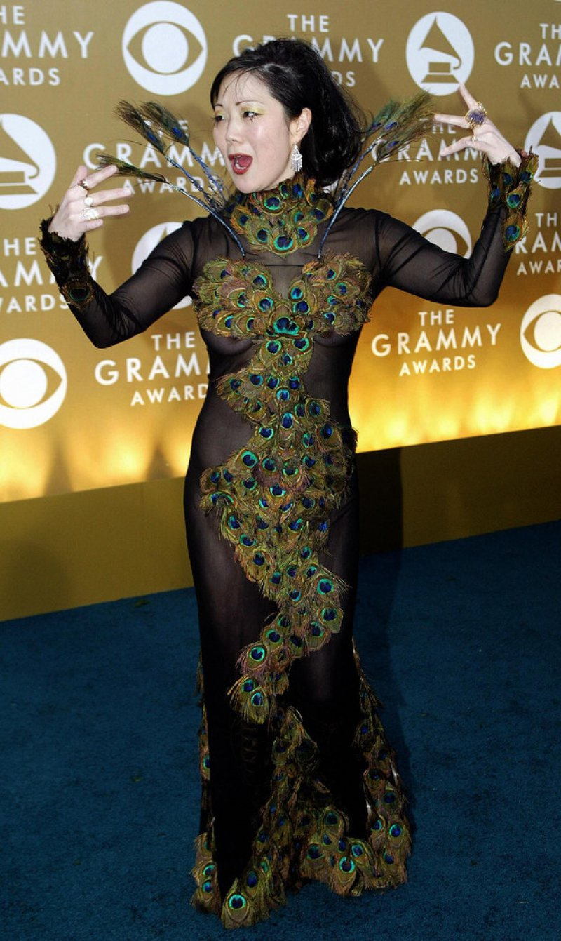 Margaret Cho, 2004-15 Weirdest Outfits At The Grammys Over The Years