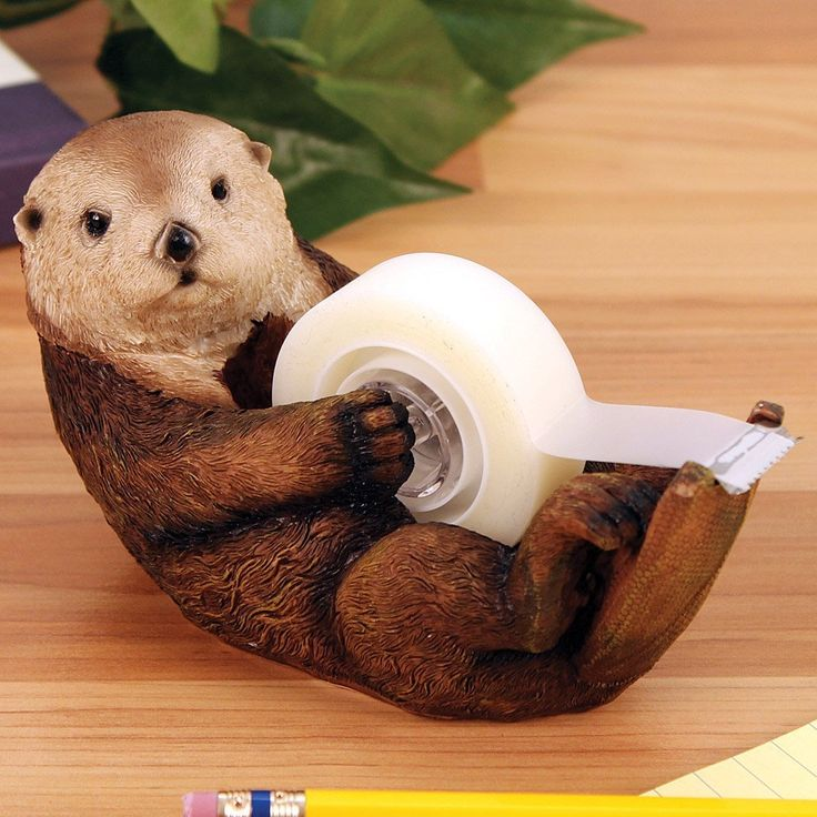 This Cute Otter Tape Dispenser-15 Cute Desk Accessories For Your Office