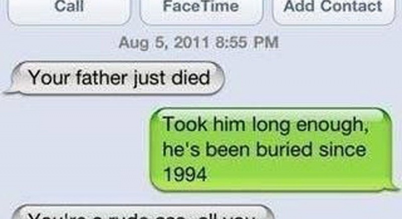 Hilarious wrong number replies