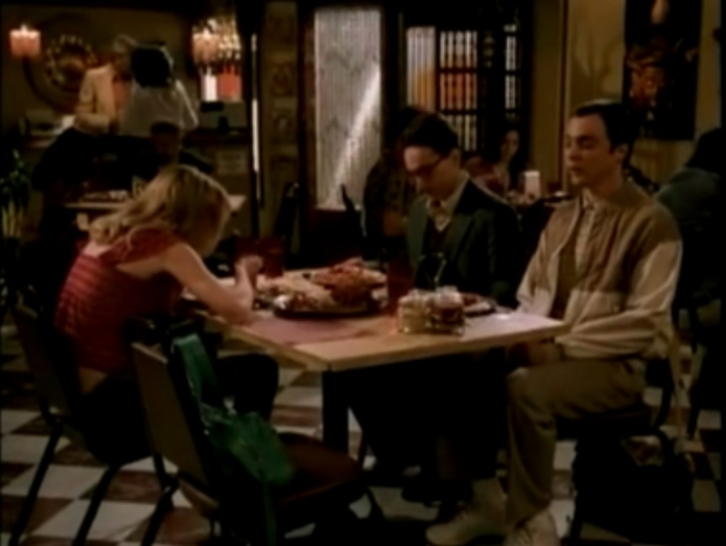 At the restaurant-The Big Bang Theory Unaired Pilot Episode
