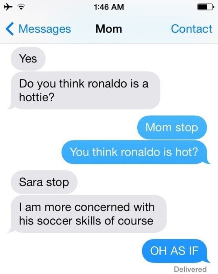 This Mom Who Loves Ronaldo -15 Hilarious Texts From Parents That Will Make You Cry Then Laugh