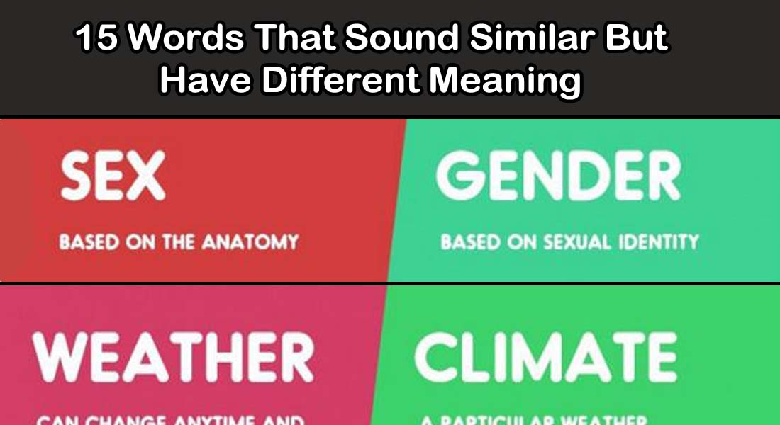 15 Words that Sound Similar but Have Different Meaning