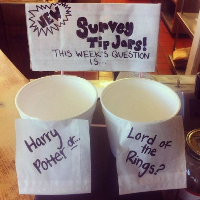 Make Money From Participating in Surveys-15 Funniest Tip Jars You'll Ever See