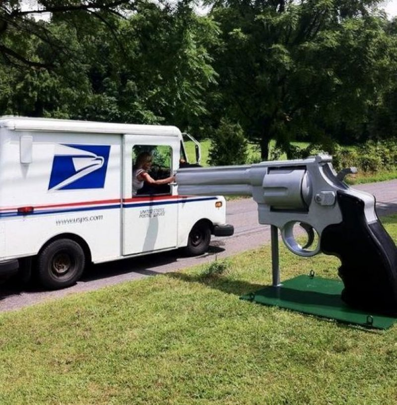 Never Deliver It Late, Mr. Mailman-15 Weirdest Yet Hilarious Mailboxes You'll Ever See