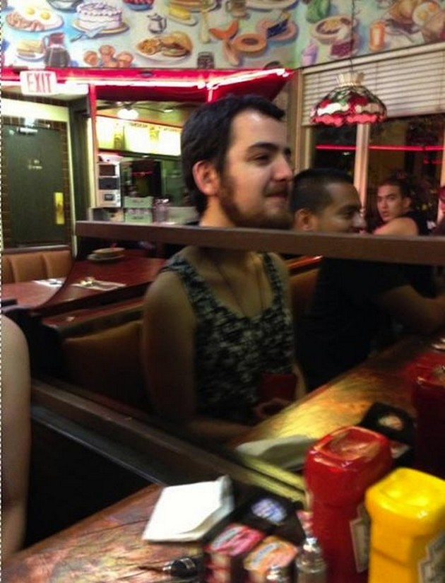 This Man in Lady's Dress-15 Times Unfortunate Reflections Ruined Everything