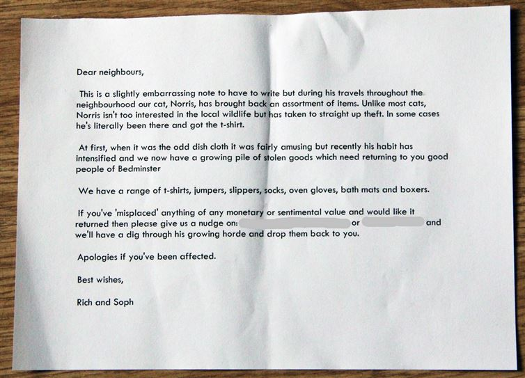 Guess Who Trained this Cat-12 Amazing Notes Ever Left By Neighbors