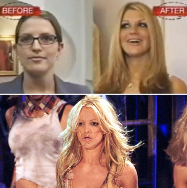 Crystal U (Britney Spears)-15 People Who Had Plastic Surgery To Look Like Celebs