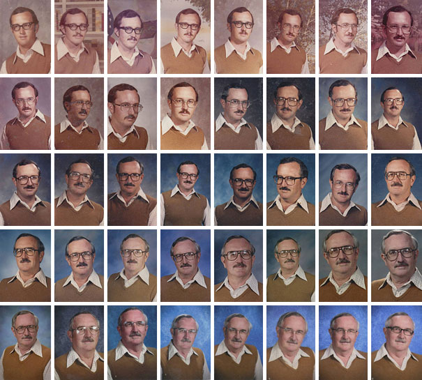 40 Years in Teaching Profession, 40 Yearbook Photos, But Only 1 Dress-15 Awesome Teachers Everyone Would Like To Have