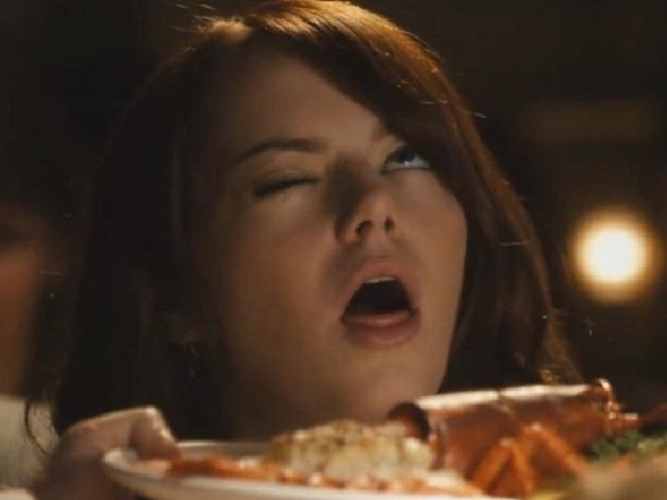 Emma stone stupid face-15 Stupidest Faces Our Favorite Celebrities Make