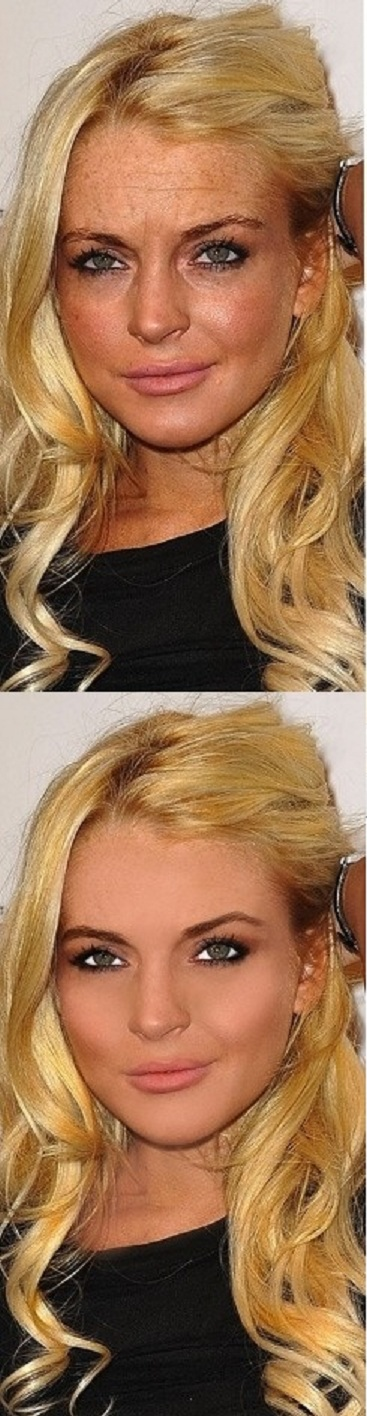 Lindsay Lohan-Worst Celebrities Before And After Photoshop Pics