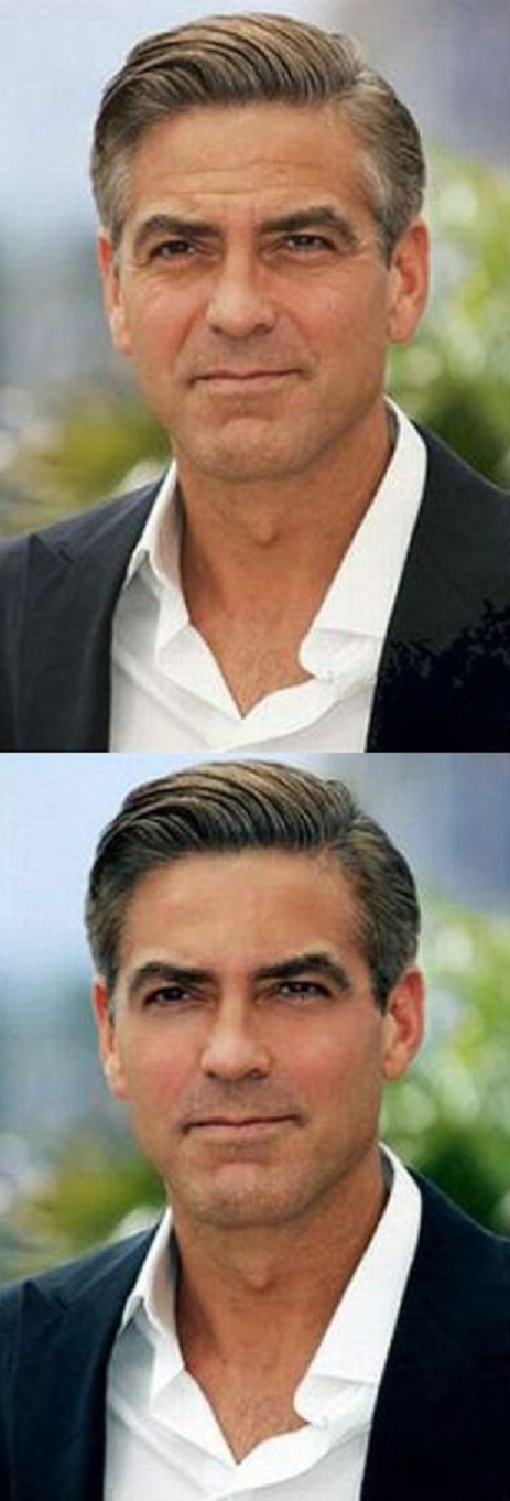 George Clooney-Worst Celebrities Before And After Photoshop Pics