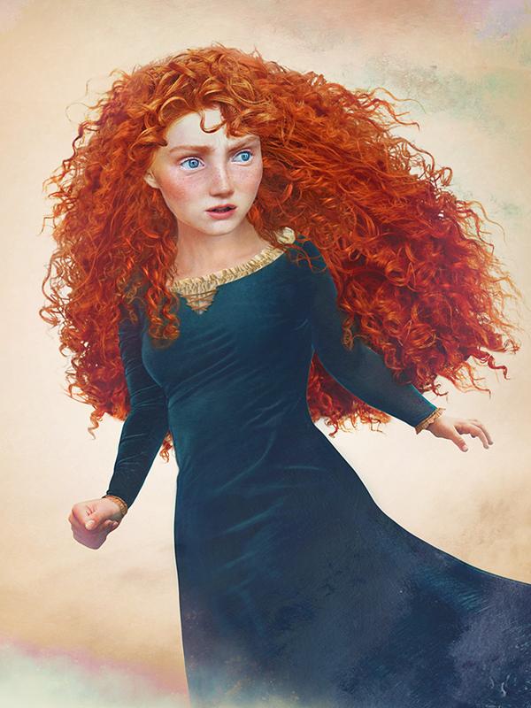 Princess Merida-15 Real Life Illustrations Of Disney Characters