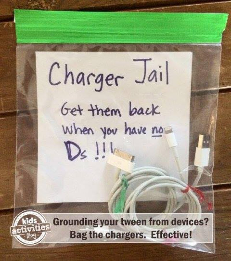 Ground the Chargers, not Devices-15 Parenting Hacks That Will Make You Super Parents