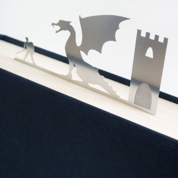 Dragon and Knight Bookmark-15 Bookmarks You Must Have If You Are A Bookworm